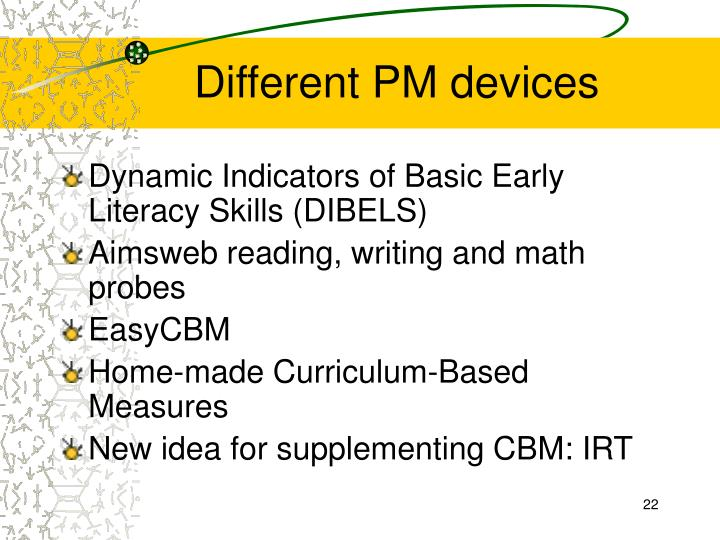 Different PM devices