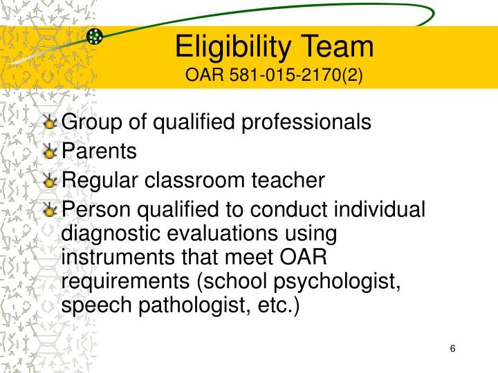 Eligibility Team
