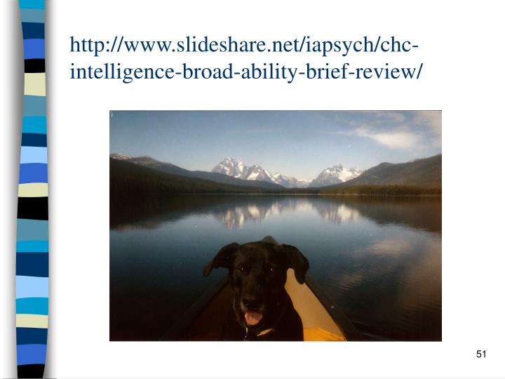 http://www.slideshare.net/iapsych/chc-intelligence-broad-ability-brief-review/