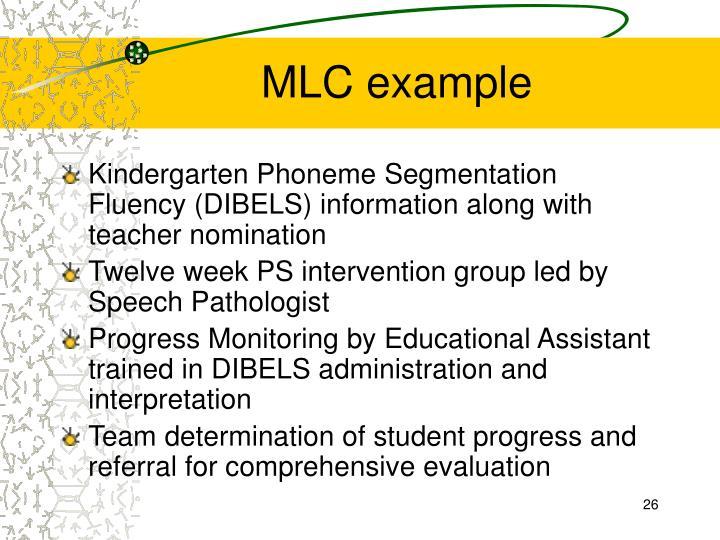 MLC example