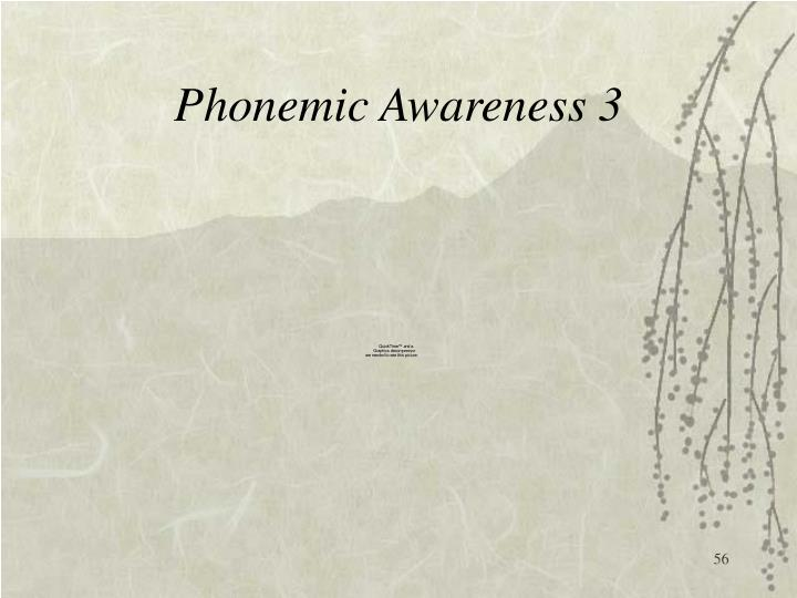 Phonemic Awareness 3