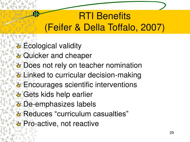 RTI Benefits