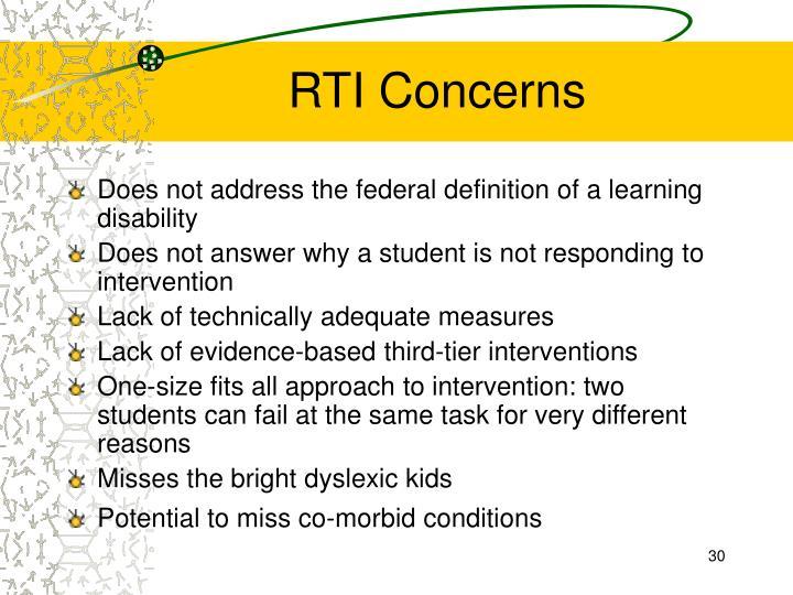 RTI Concerns