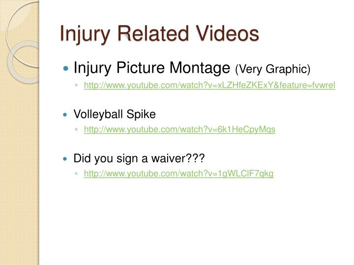 Injury Related Videos