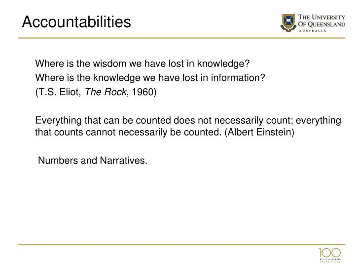 Accountabilities