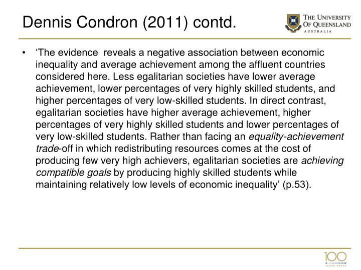 Dennis Condron (2011) contd.