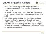 growing inequality in australia