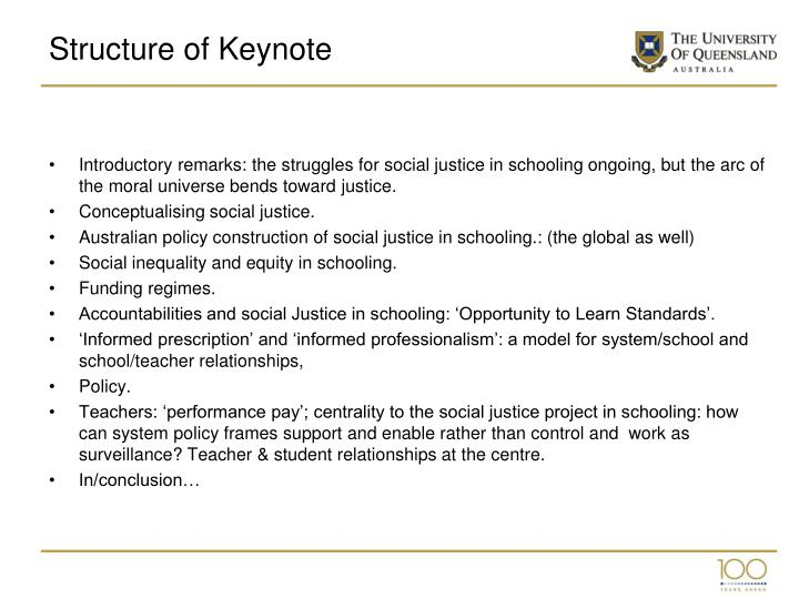 Structure of keynote