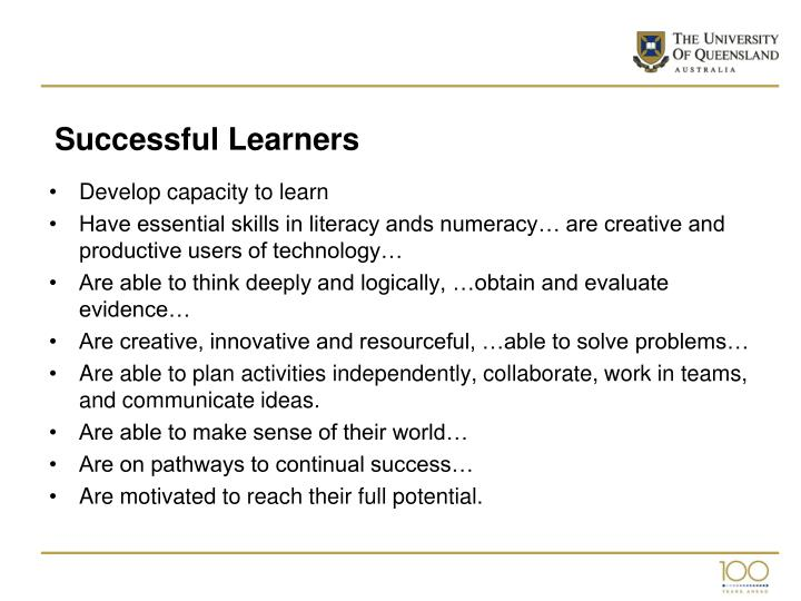 Successful Learners