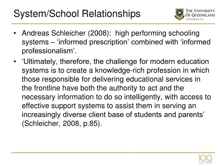 System/School Relationships