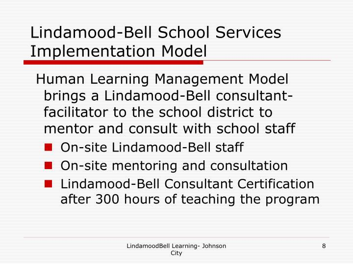 Lindamood-Bell School Services Implementation Model