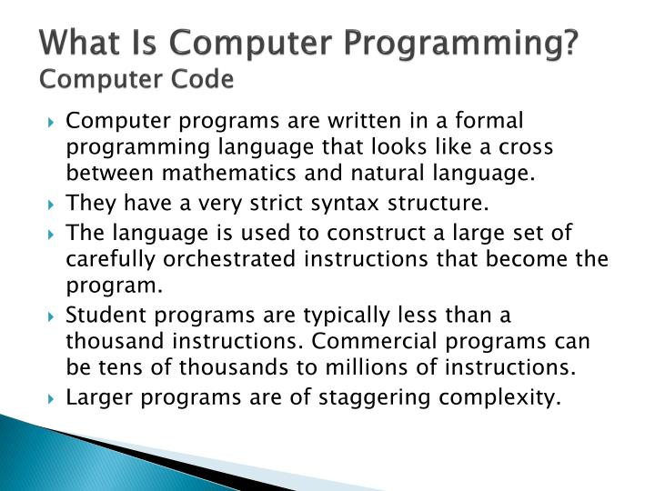 What Is Computer Programming?