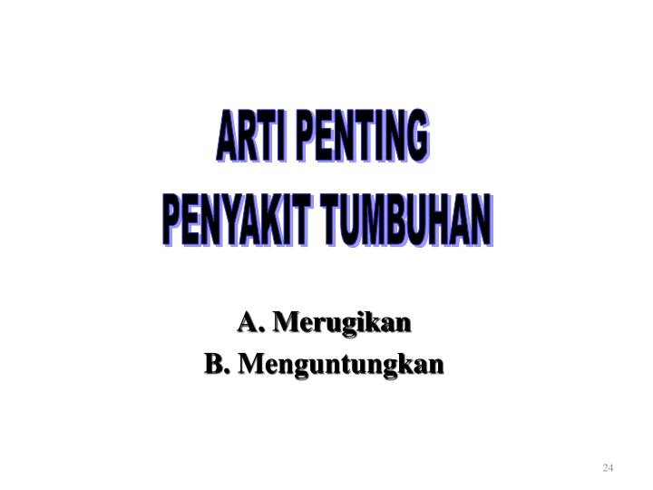 ARTI PENTING