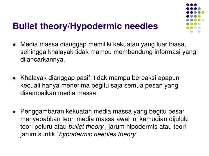 Bullet theory/Hypodermic needles