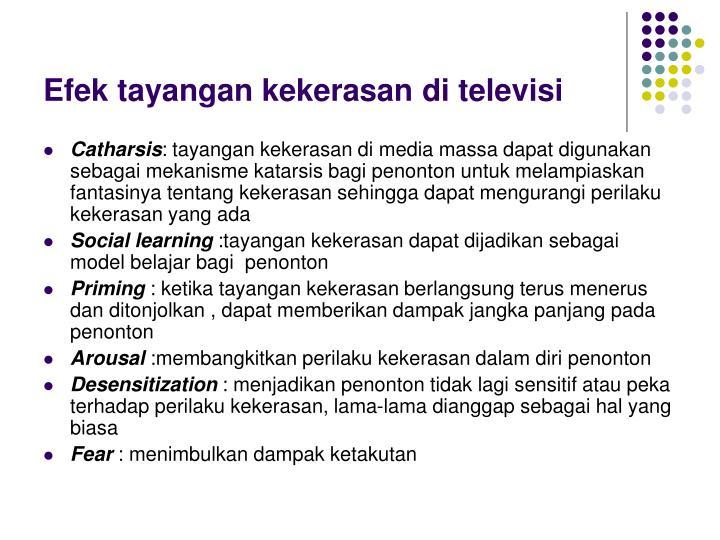 Efek tayangan kekerasan di televisi