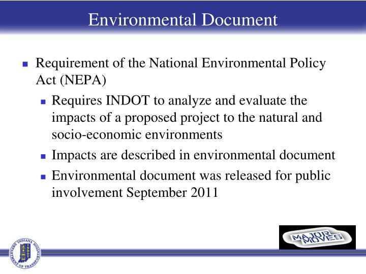 Requirement of the National Environmental Policy Act (NEPA)