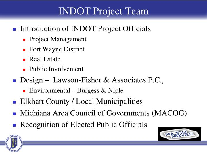 INDOT Project Team