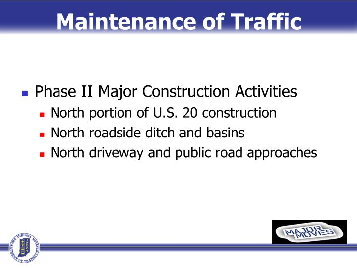 Maintenance of Traffic