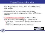 project resource location