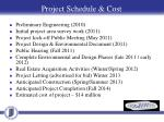project schedule cost