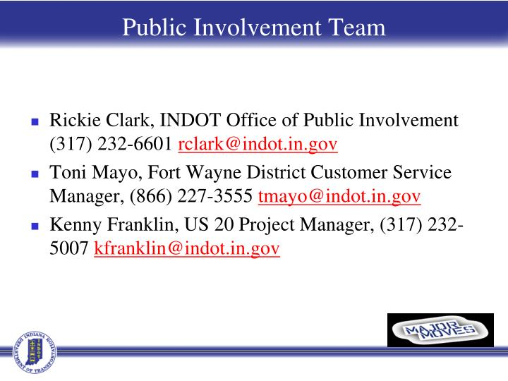 Public Involvement Team