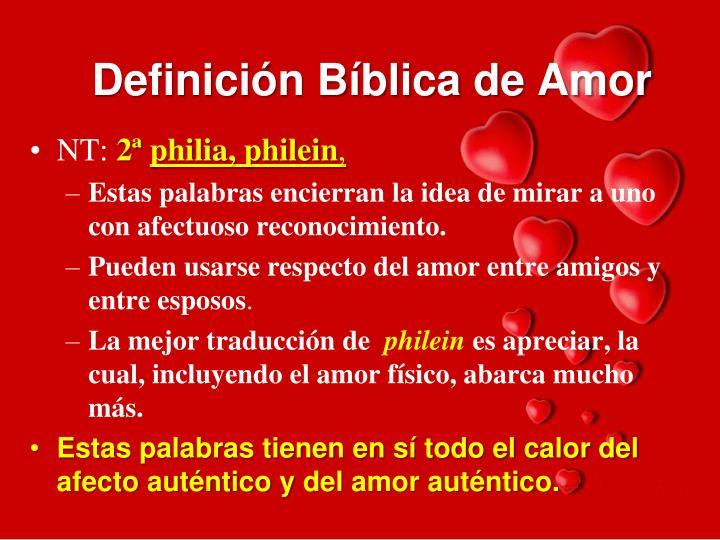 Definición Bíblica de Amor