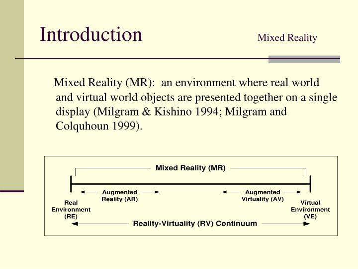 Introduction mixed reality
