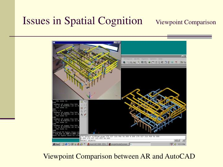 Issues in Spatial Cognition