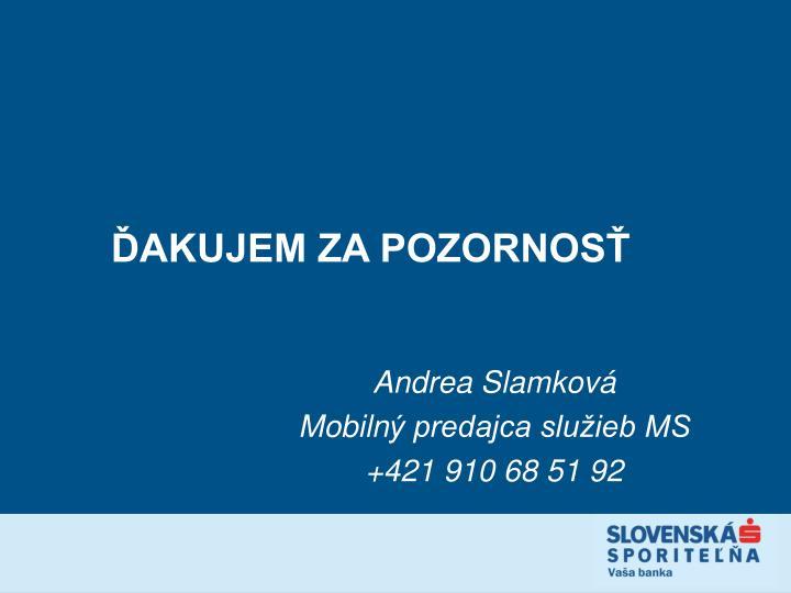 Andrea Slamková