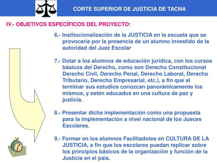 CORTE SUPERIOR DE JUSTICIA DE TACNA