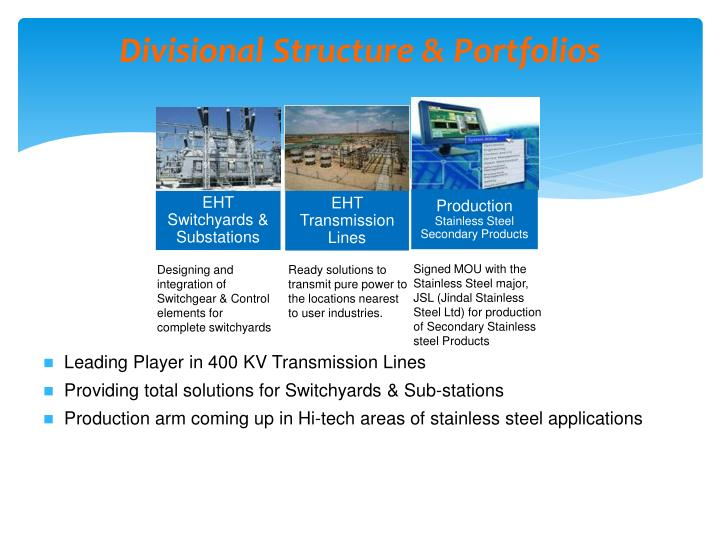 Divisional Structure & Portfolios