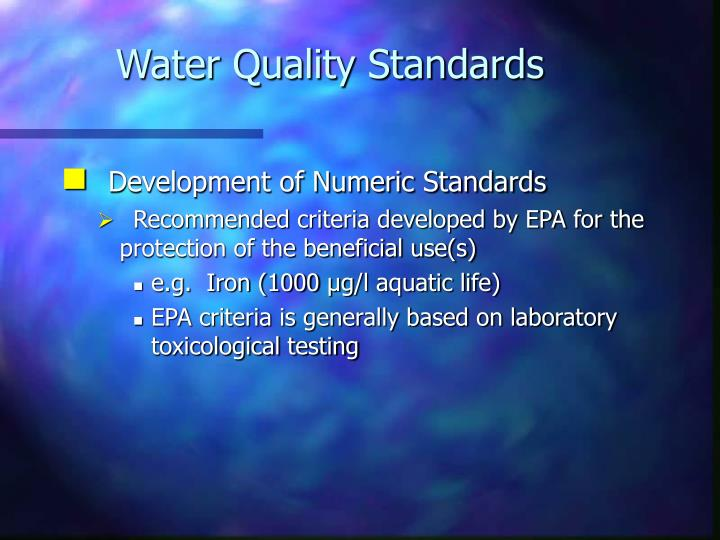 Water Quality Standards