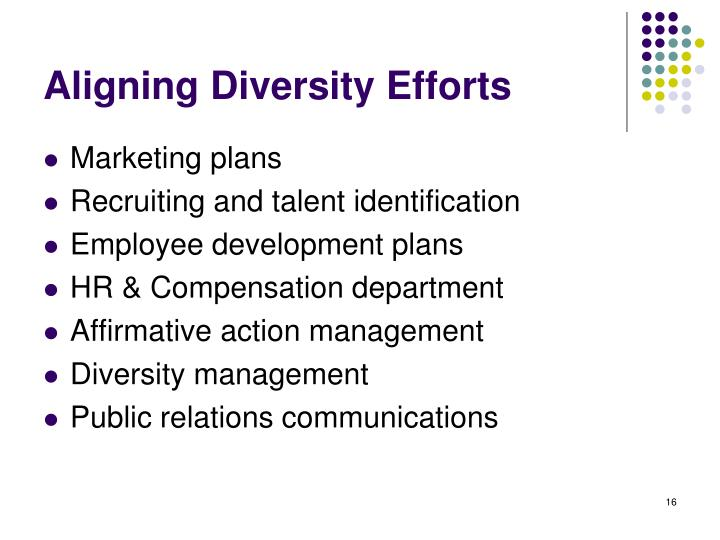Aligning Diversity Efforts
