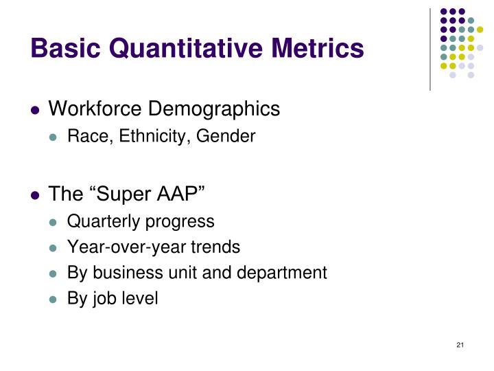 Basic Quantitative Metrics