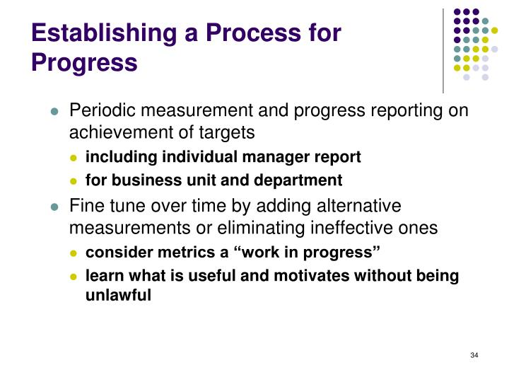 Establishing a Process for Progress