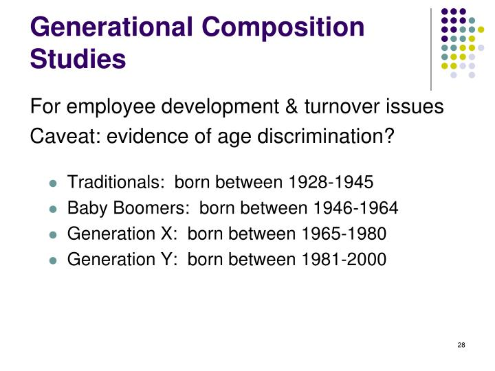 Generational Composition Studies