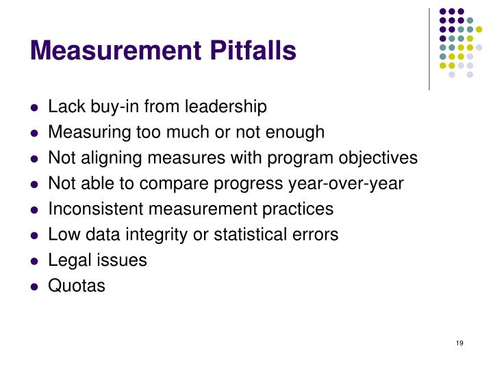 Measurement Pitfalls