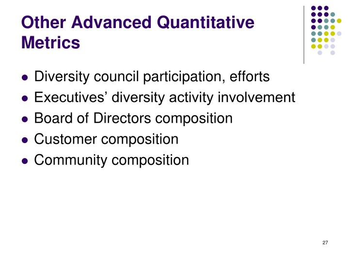 Other Advanced Quantitative Metrics