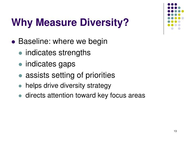 Why Measure Diversity?