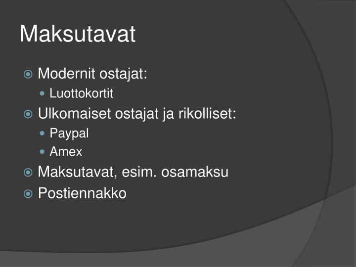 Maksutavat