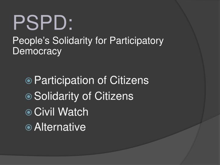 PSPD:
