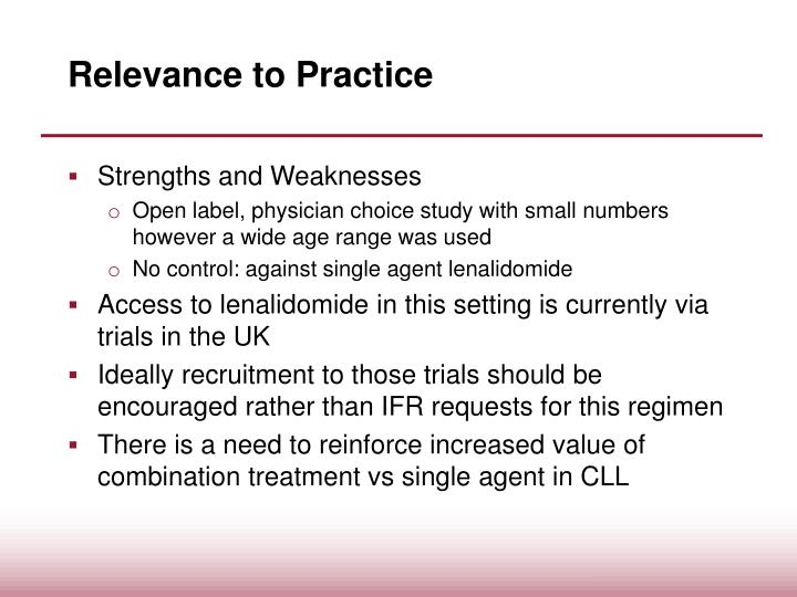 Relevance to Practice