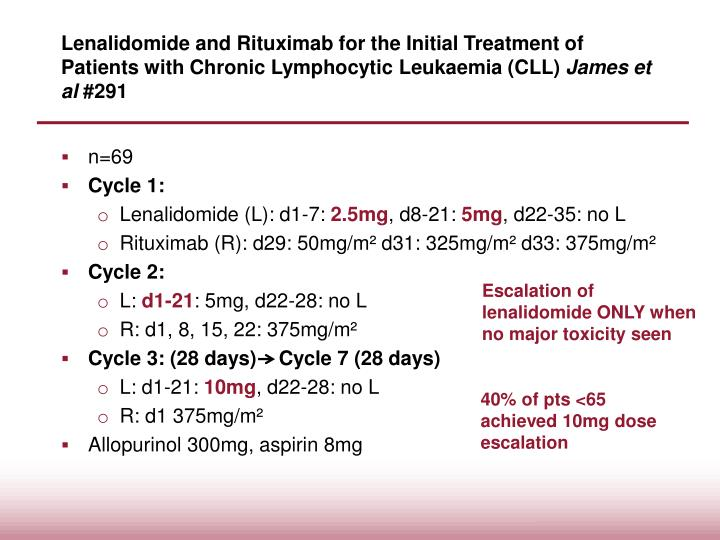 Lenalidomide and Rituximab for the Initial Treatment of Patients with Chronic Lymphocytic Leukaemia (CLL)