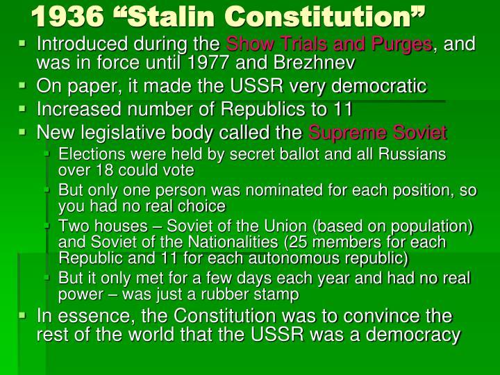 "1936 ""Stalin Constitution"""