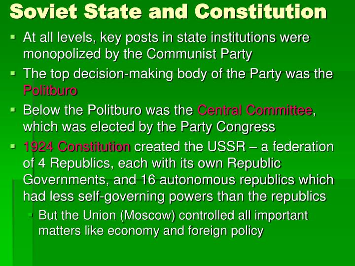 Soviet State and Constitution