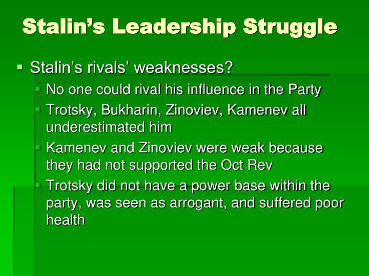 Stalin's Leadership Struggle