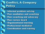 conflict a company policy