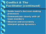 conflict the facilitator continued