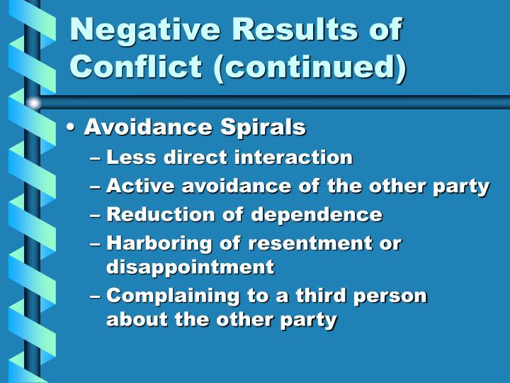 Negative Results of Conflict (continued)