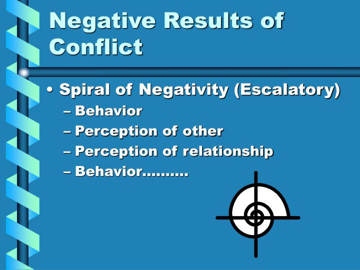 Negative Results of Conflict